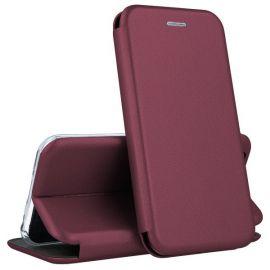 """Bordo spalvos atverčiamas dėklas Samsung Galaxy G925 S6 Edge """"Book Elegance"""""""