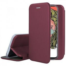 """Bordo spalvos atverčiams dėklas Huawei P20 """"Book Elegance"""""""