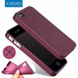 """Bordo spalvos dėklas Apple iPhone 5 """"X-level Guardian"""""""