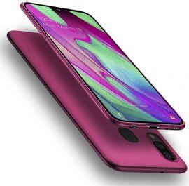 """Bordo spalvos dėklas Samsung Galaxy A405 A40 """"X-level Guardian"""""""