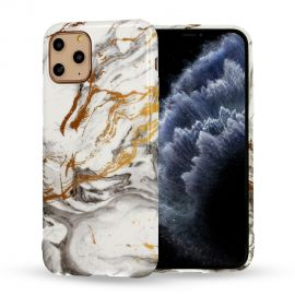 "Design 2 dėklas Apple iPhone 12 / 12 Pro ""Marble Silicone"""