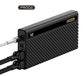 Juoda išorinė baterija Power Bank Proda PD-P26 4xUSB 20000mAh