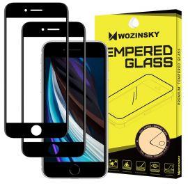 """Juodas apsauginis ekrano stiklas Apple iPhone 6 / 6S / 7 / 8 / SE 2020 """"Wozinsky 5D"""" 2vnt"""