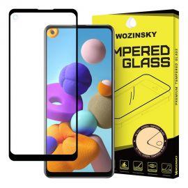 "Juodas apsauginis ekrano stiklas Samsung Galaxy A217 A21s / A21 / A80 ""Wozinsky 5D"""