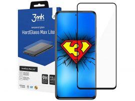 """Juodas apsauginis stiklas Xiaomi Poco F3 """"3MK Hard Glass Max Lite"""""""