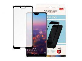 """Juodas apsauginis stikliukas Huawei P20 """"MyScreen Lite Edge Full Glue"""""""