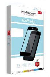 """Juodas apsauginis stikliukas Samsung Galaxy S21 """"MyScreen Lite Edge Full Glue"""""""