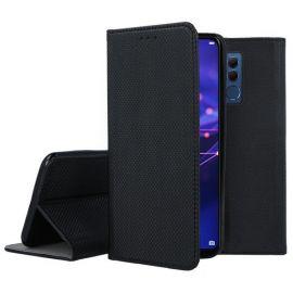 """Juodas atverčiamas dėklas Huawei Mate 20 Lite """"Smart Magnet"""""""
