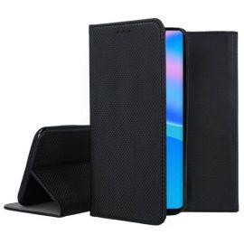 """Juodas atverčiamas dėklas Huawei P Smart 2021 """"Smart Magnet"""""""