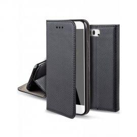 """Juodas atverčiamas dėklas Huawei P10 """"Smart Magnet"""""""