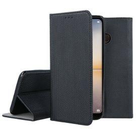 """Juodas atverčiamas dėklas Huawei P20 Lite """"Smart Magnet"""""""