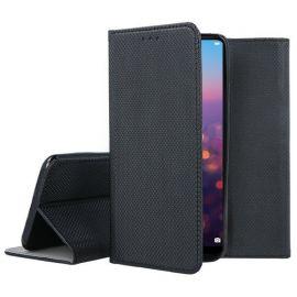 """Juodas atverčiamas dėklas Huawei P20 """"Smart Magnet"""""""