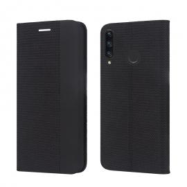 """Juodas atverčiamas dėklas Huawei P30 LITE / Nova 4E """"Smart Senso"""""""
