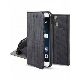 """Juodas atverčiamas dėklas Huawei P9 """"Smart Magnet"""""""