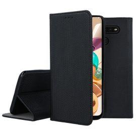 """Juodas atverčiamas dėklas LG K41S / K51S """"Smart Magnet"""""""