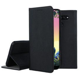 """Juodas atverčiamas dėklas LG K50S """"Smart Magnet"""""""