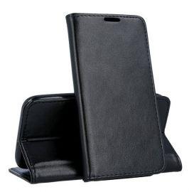 """Juodas atverčiamas dėklas Samsung Galaxy A202 A20e """"Smart Magnetic"""""""