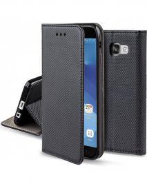 """Juodas atverčiamas dėklas Samsung Galaxy A320 A3 2017 """"Smart Magnet"""""""