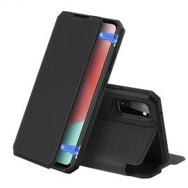 """Juodas atverčiamas dėklas Samsung Galaxy A41 A415 """"Dux Ducis Skin X"""""""