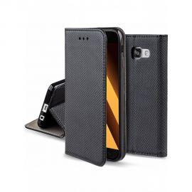 """Juodas atverčiamas dėklas Samsung Galaxy A520 A5 2017 """"Smart Magnet"""""""