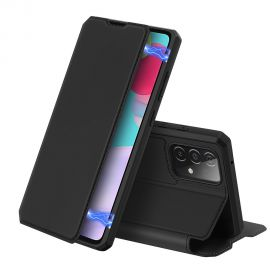 "Juodas atverčiamas dėklas Samsung Galaxy A525 A52 / A526 A52 5G ""Dux Ducis Skin X"""