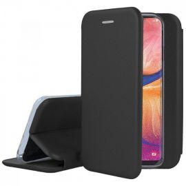 """Juodas atverčiamas dėklas Samsung Galaxy A530 A8 2018 """"Book Elegance"""""""