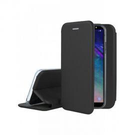 """Juodas atverčiamas dėklas Samsung Galaxy A600 A6 2018 """"Book Elegance"""""""