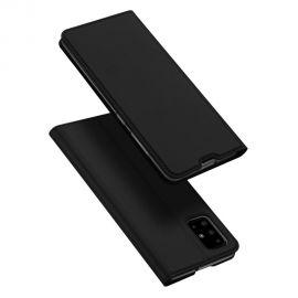"""Juodas atverčiamas dėklas Samsung Galaxy A715 A71 """"Dux Ducis Skin Pro"""""""