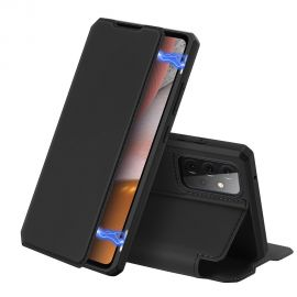 "Juodas atverčiamas dėklas Samsung Galaxy A725 A72 / A726 A72 5G ""Dux Ducis Skin X"""