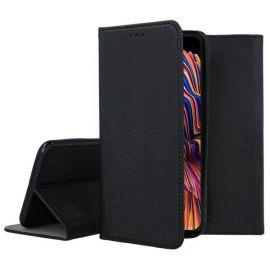 """Juodas atverčiamas dėklas Samsung Galaxy G715 Xcover Pro """"Smart Magnet"""""""