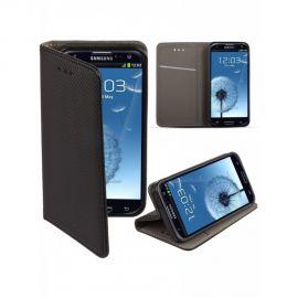 "Juodas atverčiamas dėklas Samsung Galaxy i9300 S3 / i9301 S3 Neo / i9300i  ""Smart Magnet"""