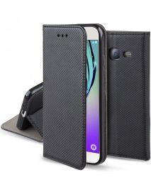 """Juodas atverčiamas dėklas Samsung Galaxy J320 J3 2016 """"Smart Magnet"""""""