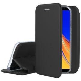"""Juodas atverčiamas dėklas Samsung Galaxy J415 J4 Plus 2018 """"Book Elegance"""""""
