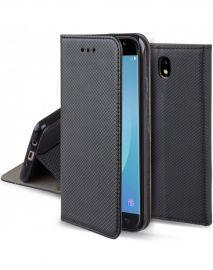 """Juodas atverčiamas dėklas Samsung Galaxy J730 J7 2017 """"Smart Magnet"""""""