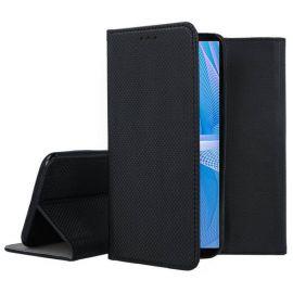 """Juodas atverčiamas dėklas Sony Xperia 10 III """"Smart Magnet"""""""