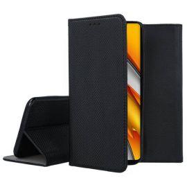 "Juodas atverčiamas dėklas Xiaomi Mi 11i / Poco F3 / Poco F3 Pro / Redmi K40 / Redmi K40 Pro ""Smart Magnet"""