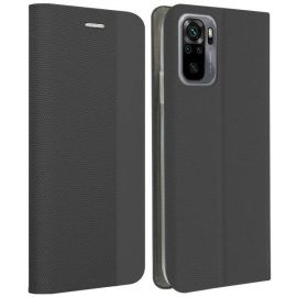"""Juodas atverčiamas dėklas Xiaomi Redmi Note 10 / 10s """"Smart Senso"""""""