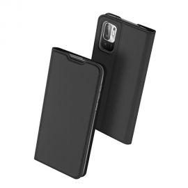 """Juodas atverčiamas dėklas Xiaomi Redmi Note 10 5G """"Dux Ducis Skin Pro"""""""