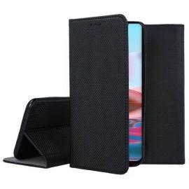 """Juodas atverčiamas dėklas Xiaomi Redmi Note 10 / Redmi Note 10S """"Smart Magnet"""""""