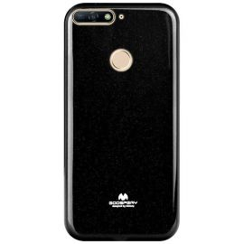 """Juodas dėklas Huawei Y6 2018 """"Mercury Jelly"""""""