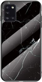 """Juodas dėklas Samsung Galaxy A31 """"Marble"""""""