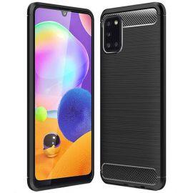 "Juodas dėklas Samsung Galaxy A315 A31 ""Carbon Lux"""