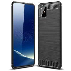 "Juodas dėklas Samsung Galaxy A515 A51 ""Carbon Lux"""