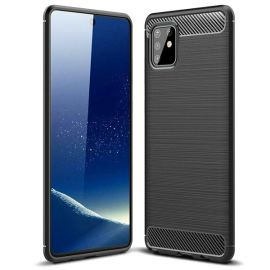 "Juodas dėklas Samsung Galaxy A715 A71 4G ""Carbon Lux"""