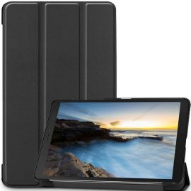 "Juodas dėklas Samsung Galaxy T290 / T295 Tab A 8.0 2019 ""Smart Leather"""