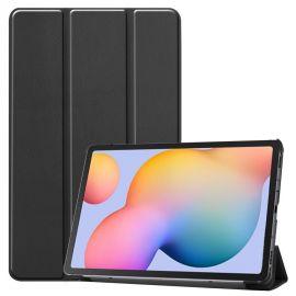 """Juodas dėklas Samsung P610 / P615 Tab S6 Lite 10.4 """"Smart Leather"""""""