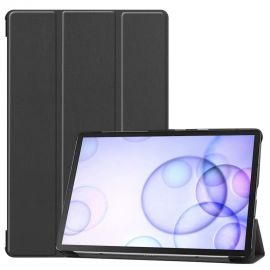"""Juodas dėklas Samsung T860 / T865 Tab S6 10.5 """"Smart Leather"""""""