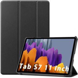 """Juodas dėklas Samsung T870 / T875 Tab S7 11 """"Smart Leather"""""""