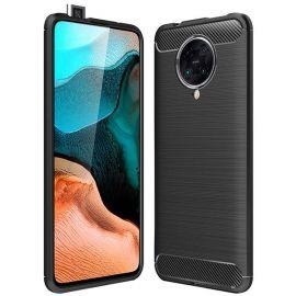 "Juodas dėklas Xiaomi Poco F2 Pro / K30 Pro ""Carbon Lux"""