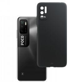 "Juodas matinis dėklas Xiaomi Poco M3 Pro 4G / 5G / Redmi Note10 5G ""3MK"""